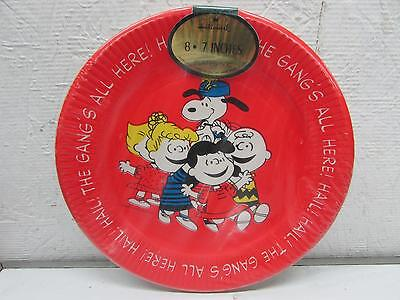 Vintage Hallmark Peanuts Gang 7  Paper Party Plates IOP : snoopy paper plates - pezcame.com