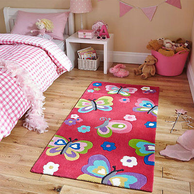 Think Rugs Hong Kong 5234 Hand Tufted Children's Rug, Pink, 70 x 140 Cm