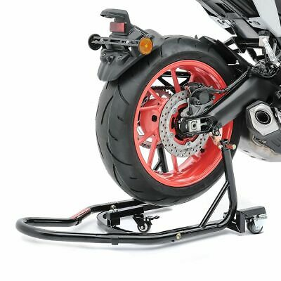 Motorcycle rear wheel paddock stand dolly ConStands Mover II motorbike parking