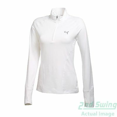 New Womens Puma Performance DC Golf 1/4 Zip Pullover Small White 569077 MSRP $65