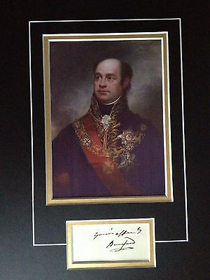 William Carr Beresford - Army General Served With Wellington - Signed Display