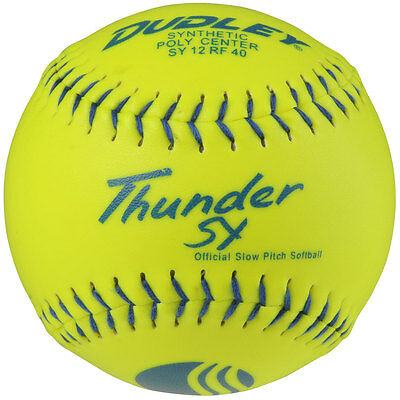 Dudley Usssa Thunder Sy Slow Pitch Softball 12 Ball Pack