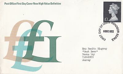 Gb 1972 high Value Definitive FDC