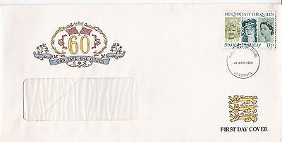 GB 1986 Queens 60th birthday spastic Society cover vgc FDC