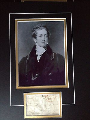 Sir Robert Peel - Former Prime Minister - Excellent Signed Photo Display