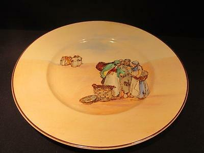 "Royal Doulton Vintage Series Ware 10 1/2"" Plate People With Baskets Gossiping"