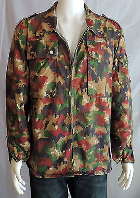 Swiss Military Surplus M83 Alpenflage Camo Army Jacket TOP COAT ...