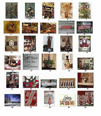 30 Personalized Return Address Christmas Primitive Country Labels Buy3 get1(cs1)