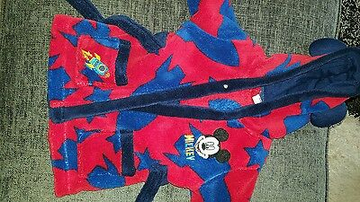mickey mouse dressing gown 3-6 months