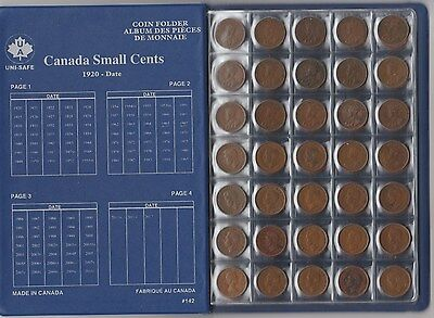 Canada Small Cent collection 1920 to 2012 Complete All keys 101 coins BEAUTIFUL