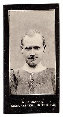 F. & J. SMITH FOOTBALLERS-NO SERIES TITLE No.48 H. BURGESS-MANCHESTER UNITED