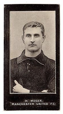 F. & J. SMITH FOOTBALLERS-NO SERIES TITLE No.47 H. MOGER-MANCHESTER UNITED