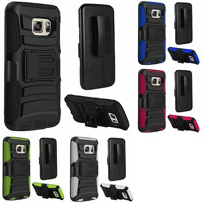 For Samsung Galaxy S7 Heavy Duty Rugged Stand Belt Clip Holster Case Phone Cover