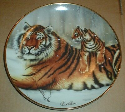 International Wildlife Coalition Collectors Plate ON THE WATCH Tiger #2