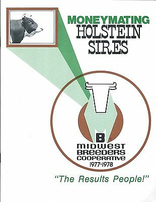 Farm Cattle Brochure - Midwest Breeders - Holstein Sires - Cow - 1977 (F4980)