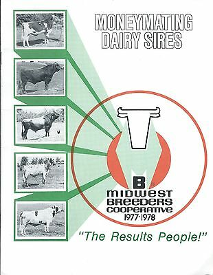 Farm Cattle Brochure - Midwest Breeders - Dairy Sires - Cow - 1977 (F4981)