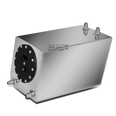 3 Gallon Lightweight Polished Aluminum Race Drift Fuel Cell Tank+Level Sender