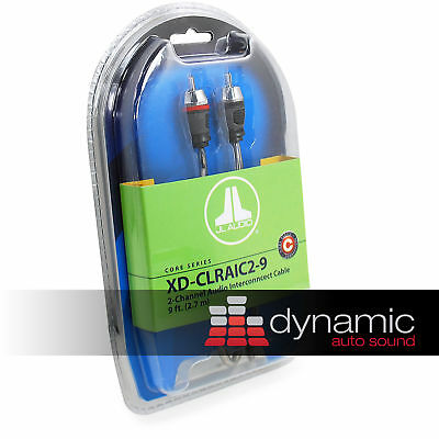 JL AUDIO XD-CLRAIC2-9 NEW 2 Channel 9.ft Car Amplifier RCA Cable Wire Amp New