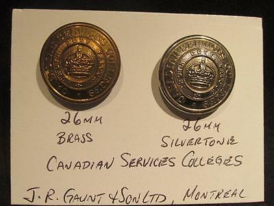 Canadian Services Colleges Pair of WWII Era 25MM Buttons