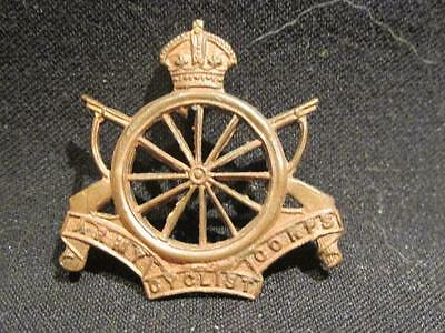Army Cyclist Corps Great Britain WWI/BEF Cap Badge or Collar Dog Blank