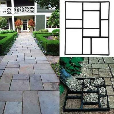 "20"" Pavement Concrete Mold Garden Walkway Driveway Path DIY Maker Mould Plastic"