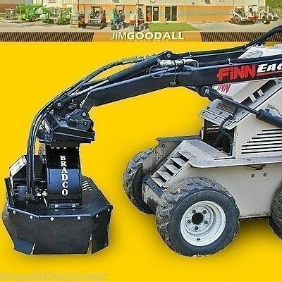 "Stump Grinder for Mini Skid Steer Loaders,7"" Depth,Fits Most Mini Skid Steers"