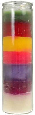 7 COLOUR 7 DAY 120 HOUR JAR CANDLE Wicca Witch Pagan Spells 7 PURPOSE