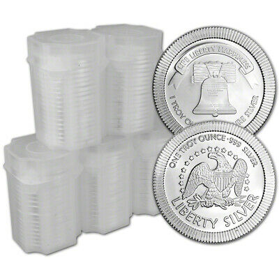 100-pc. 1 oz. Silver Round - A-Mark Liberty Bell Stackable .999 - 5 Rolls of 20