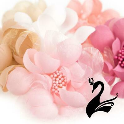 Flower Mini Bella Petals w Stamens 8cm Style 7073 (Price for 2) - Millinery Hats