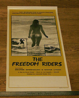 Freedom Riders *original Unfolded* 1972 Australian Surf Poster - Sexy Naked