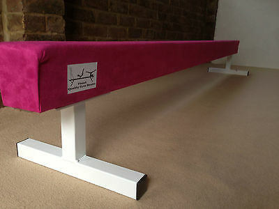 "finest quality HOT PINK gymnastics gym balance beam 8FT long 12"" high HOT PINK"