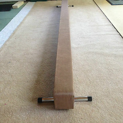 finest quality gymnastics gym balance beam tan colour 8FT long reduced  bargain