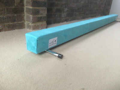 finest quality gymnastics gym balance beam 6FT long TURQUOISE BRAND NEW