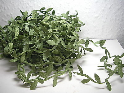 Leaves, Fabric Garland x 10 yards, reduced, DOLLS HOUSE MINIATURES (F23)