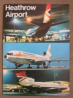 HEATHROW AIRPORT IN PICTURES 1972 Jarrold Colour Publications Illustrated Planes