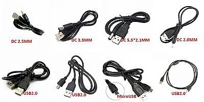 USB Cable MicroUSB Datawire USB2.0 Printer Line MK5P USB to DC3.5mm/2,1mm New
