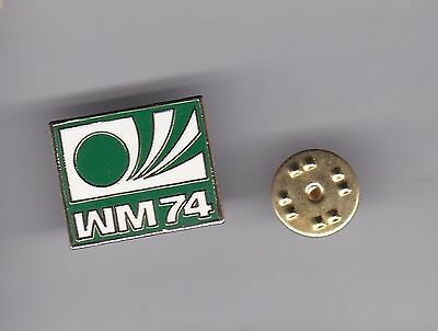 World Cup Logo - Germany 1974 - lapel badge butterfly fitting