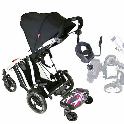 iSafe SegBoard Buggy Board Sit Or Step - Splash Complete With Saddle Seat Plus