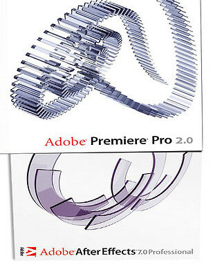 Adobe Premiere Pro 2.0 & After Effects 7.0 Video Editing Software PC