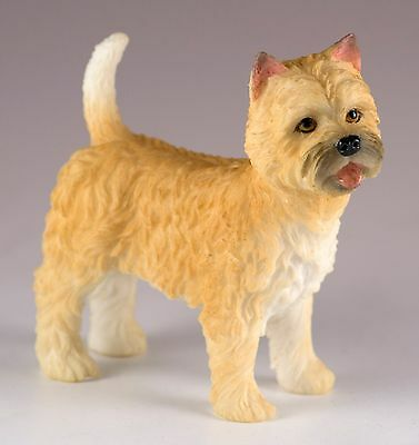 """Cairn Terrier Dog Figurine 3.5"""" High - Highly Detailed New In Box"""