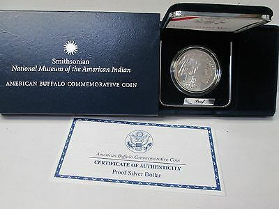 2001 American Buffalo Smithsonian Proof Silver Dollar Commemorative Coin Set