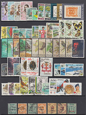 Jamaica Sc 297//791 used 1970-1993 issues, 61 diff postally used singles & sets