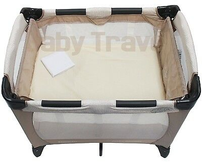Pack Of 2 Luxury Fitted Sheets For Graco Petite Bassinet Travel Cot