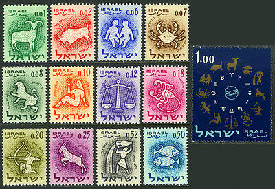 Israel 190-202, MNH. Signs of Zodiac, 1961
