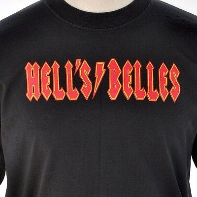 AC / DC Hells Belles Will Play For Food T-Shirt Large L Angus Young Endorsed