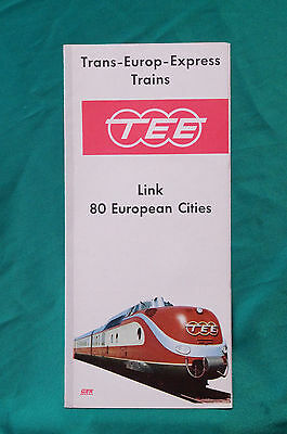 Trans - Europ - Express, Link 80 European Cities, Early Timetable