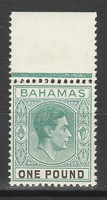 Bahamas 1938 Kgvi 1 Pound Mnh ** Top Value