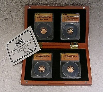2009 Lincoln Cents 4 Coin Proof Set - ANACS PR69 DCAM with Display Box