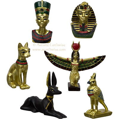 EGYPTIAN FIGURINES (SET OF 12 x 2 of EACH) Wicca Pagan Witch Goth