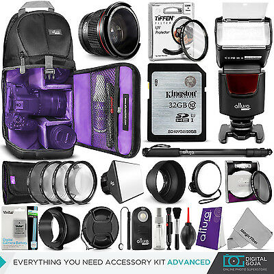 Nikon D5500 Camera Everything You Need Accessory Kit - 52MM Lens Filters Bundle